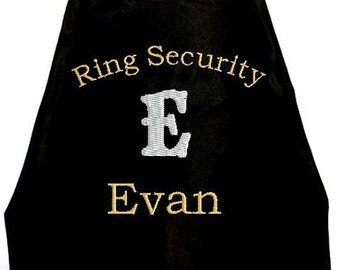 Super Hero Cape, Boy's Ring Bearer Superhero Cape, Embroidered Ring Bearer Cape Wedding Photo Op