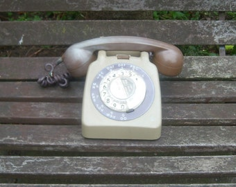 Vintage 1970's Dial Telephones with Bell Ring