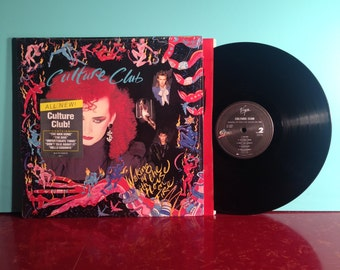 CULTURE CLUB Waking Up With The House On Fire Vinyl Record Album LP 1984 In Shrink Hype Boy George New Wave Near Mint Condition Vintage