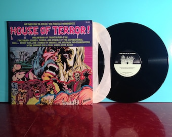 House Of Terror Dracula Wolfman Frankenstein Vinyl Record Album 2X LP 1980s Gatefold Book Horror Halloween Ghost Near Mint Condition Vintage
