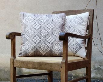 Cushion Cover - Square cushion cover - Pillow Cover - Pillow case - Decorative pillow - Throw pillow - brown white digital printed