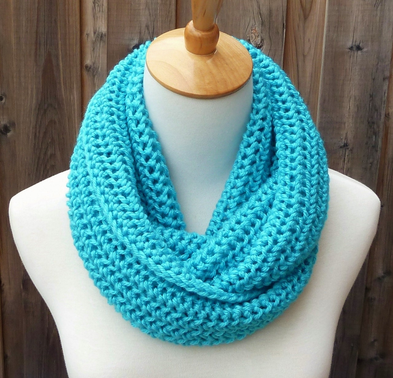 on sale turquoise infinity scarf circle scarf ready to