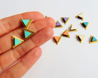 Brass Triangles Pendants 14mm,Do it Yourself  necklace