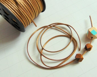 Golden Leather Cord, Faux Suede Leather Cord,  leather Cord for Jewelry,