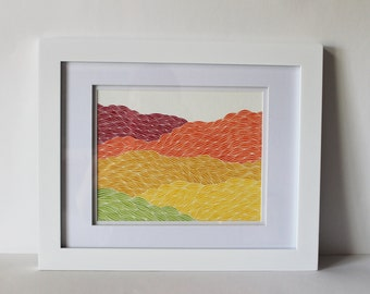 """Original Landscape Painting """"Autumn Hues"""" Framed and Ready to Hang"""