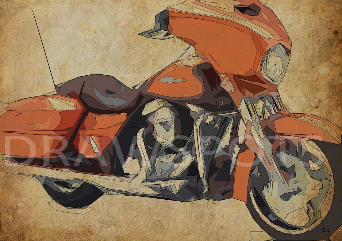 2014 Harley Davidson Street Glide, 12x8.50 In. To 60x42 In. Original