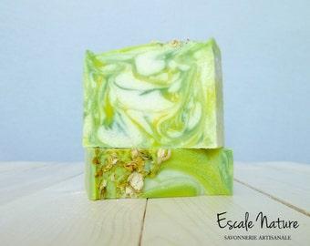 Liden artisanal soap, with olive oil, shea butter and goat milk, Handmade.