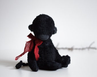 Black Pocket Monkey Grigory Plush Stuffed Animal Teddy Bear Soft Toy