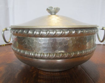 Vintage Aluminum Ware Covered Dish