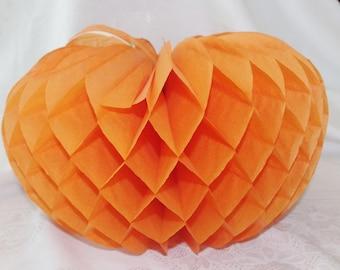 Vintage Halloween Honeycomb Pumpkin Decoration 1960s