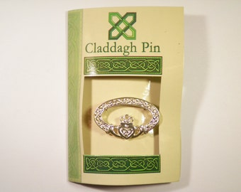1 Silver Plated Claddagh Pin Broach