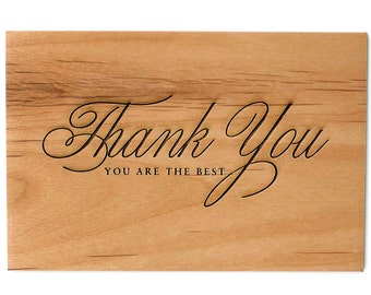 You Are The Best - Thank You Wood Card