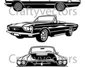 Ford Thunderbird 1966 vector file