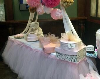 Tutu Table Skirt, Tulle Tableskirt, Candy Buffet, Centerpiece, Head Table