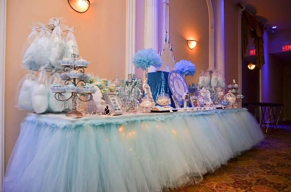 Custom Tutu Table Skirt Candy Buffet Skirt Centerpiece