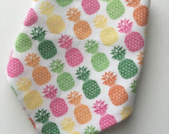 Pineapple Dog Bandana over the collar / pineapple bandana/ collar bandana/ dog collar/ summer dog bandana/ pink dog bandana/ bandana/ dog