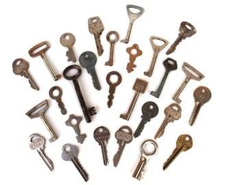 Lot of Soviet Vintage Keys Car Keys House Keys Padlock Keys Door Rustic Collectibles Keys Collectibles USSR Russian keys