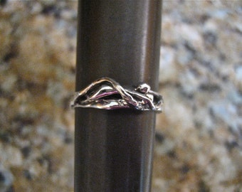 Vintage 925 Sterling Silver 2 Lovers Puzzle Ring