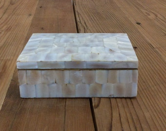 Vintage Mother of Pearl Jewelry Box