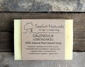 Calendula Lemongrass Soap - Handmade Cold Process, All Natural, Vegan, Essential Oil Soap