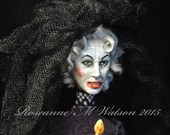 Parker Crane, Insidious, Halloween, Black Bride, Creepy, OOAK Doll, Scary Doll, Dark, Hand Sculpted, Ghost, Haunted