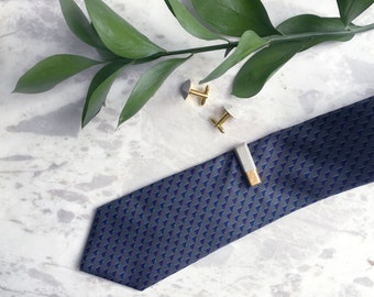 Gold Dipped Concrete Tie Bar, Minimalist Faceted Tie Clip
