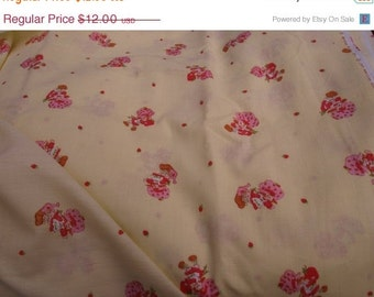SALE 1980 Strawberry Short Cake yardage material.