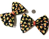 Candy Corn Bow Set, Halloween Bows, Pigtail bows, candy corn, fall bows, autumn bows, hair bows for girls, gift ideas, halloween costume,