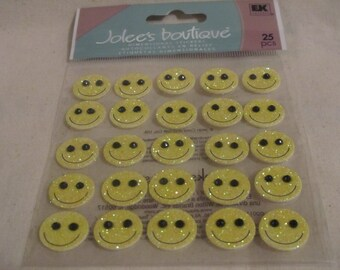 Yellow Smiley Faces by Jolee's Boutique