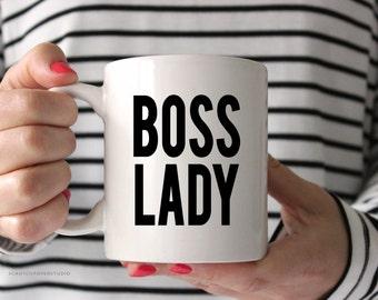 Boss Lady White Coffee Mug, Coffee Mug, Boss Lady, Inspirational Coffee Mug, Coffee Cup, Coffee Mug Gift, Like a Boss