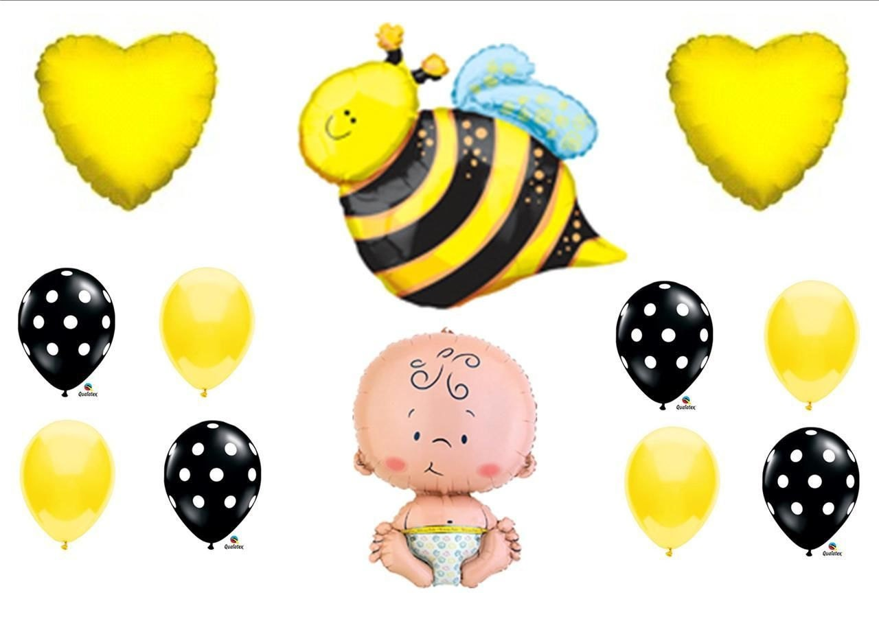what will it bee baby shower balloons decorations by summersnowokc