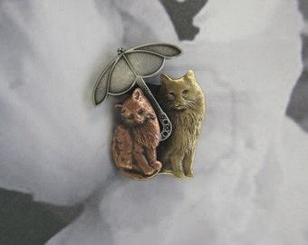 Kitten Brooch- Cat lover Gift- Cat Rescue- Cat Jewelry