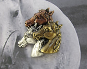 Horse Brooch- Horse Lovers Gift- Equestrian Jewelry- Equine- Horse Jewelry