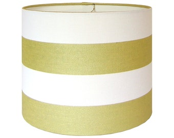 Custom Lamp Shade - Striped Lampshade - Sparkle Lampshade - Portfolio in Sparkle - Gold Metallic Stripe - Holiday Lampshade -  Made to Order