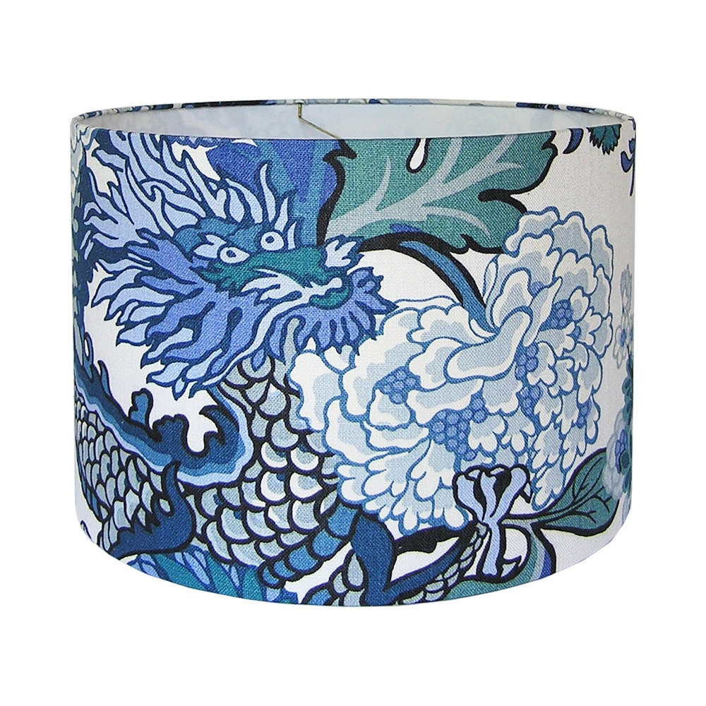 Chinoiserie Lamp Shade Custom Lampshades Chiang Mai Dragon