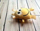 Rattle For Baby - Baby Rattle - Monster Toy - Cute Yellow Baby Gift - Gender Neutral Monster