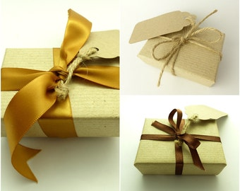 Kraft Paper Gift Wrapping Service Add-on with Various Ribbon Styles