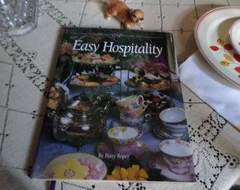 Vintage 1996 Mississippi Magazine-Patty Roper-Hardcover-Easy Hospitality Book-Recipes/Table Setting/Tea Sets