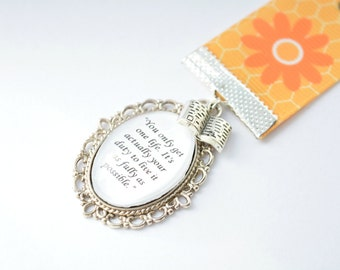 """Me Before You """"You Only Get One Life"""" Bookmark"""