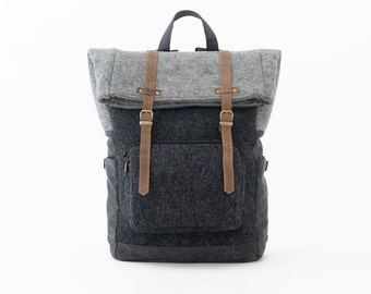 PRE ORDER - CITYCARRY Laptop Backpack / Wool Black