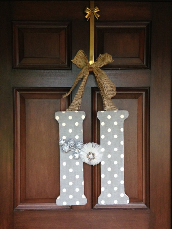 Items similar to hanging inital front door decor wooden What to hang on front door for decor
