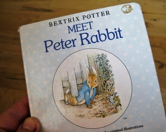 1986 Peter Rabbit  Board book Beatrix Potter Good  with signs of wear