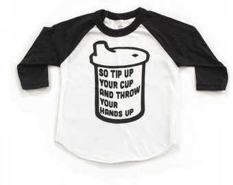 Cool Baby Clothes. Funny Baby Shower Gift. California Baby. Tip Up Your Cup. This is How We Do It kids shirt.