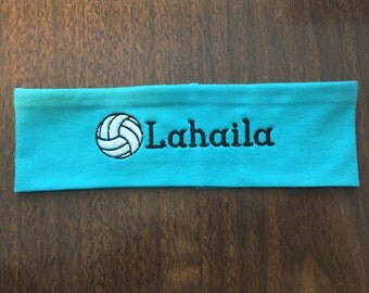 Volleyball Headband, Volleyball Accessory, Team Spirit, Sports Headband, Sports Accessory, Embroidered Headband, Customized Headband, Gift