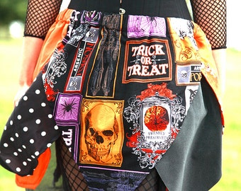Halloween Skirt Women - Punk Clothing - Women's Skirt -  Goth Clothing - Fall Skirt - Punk Clothing - Witch Skirt - Gothic Skirt - Halloween
