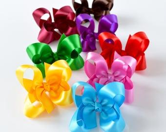 Satin Bow, Baby Hair Bows, 3 Inch Bows, Satin Bows, Toddler Hair Bows, Girls Hair Bows, Hair Bows, Hairbows, Hair Bows for Toddlers, 904