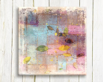 Abstract canvas art - Pastel colors on canvas - Wedding gift idea