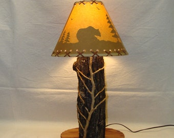 Handcrafted Log Lamp
