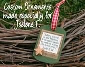 Custom Scripture Ornaments, Private Listing