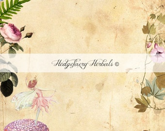FAERY MAGIC Blank Spell and Ritual Page, Digital Book of Shadows BOS Grimoire Pages Instant Download